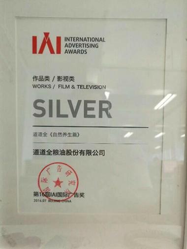 IAI國際廣告獎銀獎