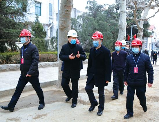 副市长赵德健视察集团项目 指导疫情防控、复工复产工作