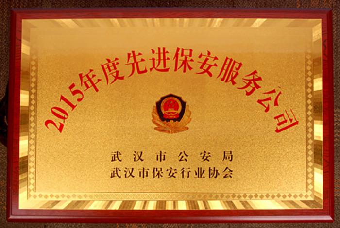 2015年度武汉市先进保安服务公司