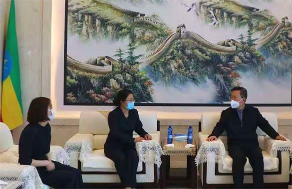 中国驻埃塞俄比亚大使赵志远一行莅临 埃塞三圣药业检查指导