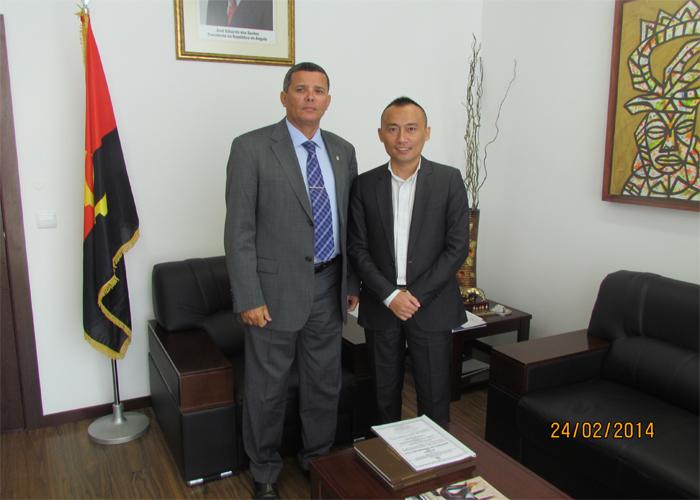安哥拉纳米贝省长会见董事长陈家重