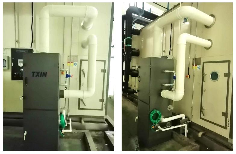 天興第四代自清潔過濾器在南京卷煙廠投入試用