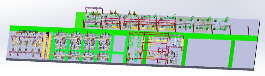 三一專汽-副車架(副梁)焊接產線