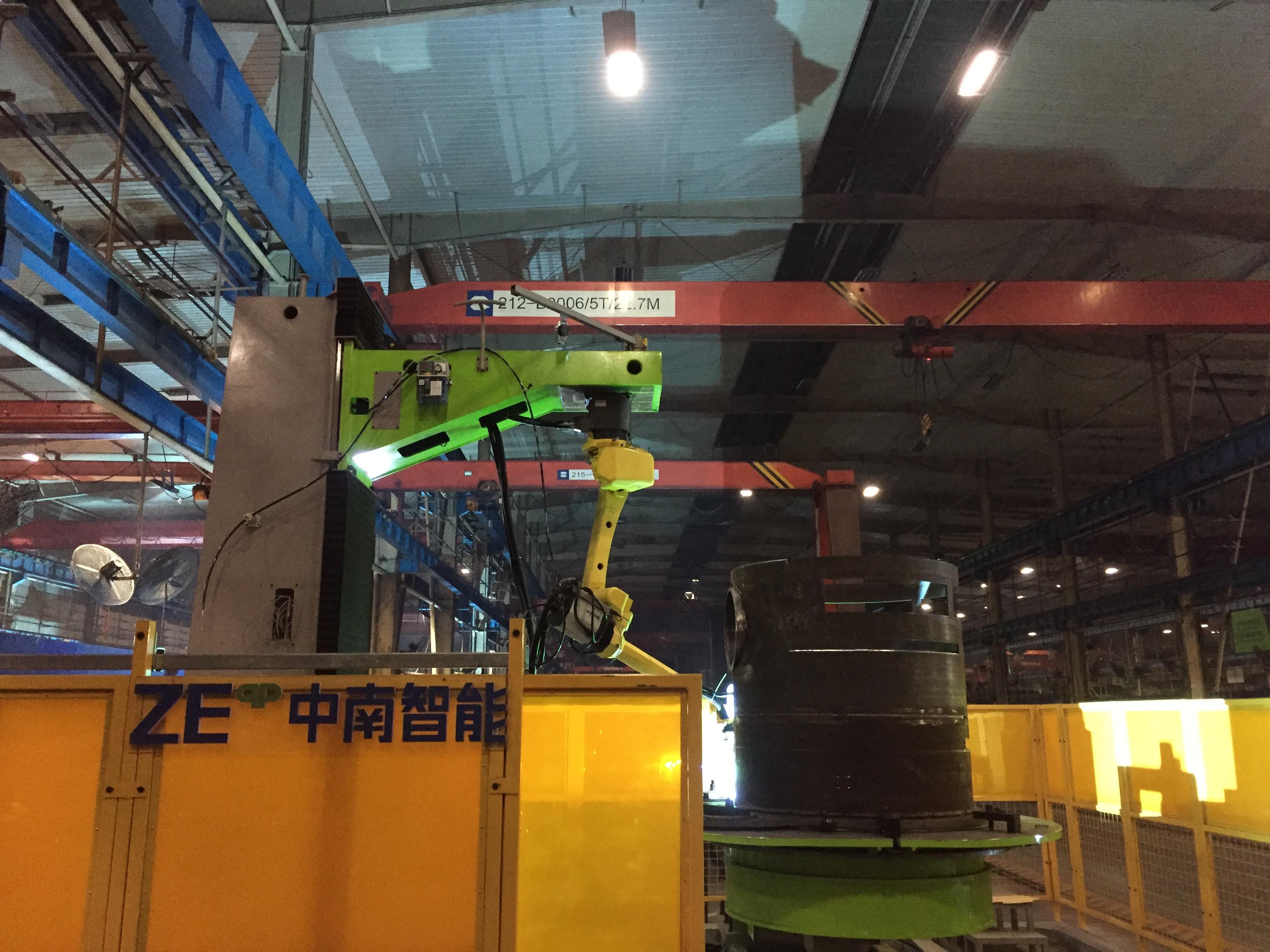 中聯重科圓筒機器人焊接系統